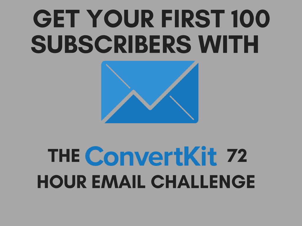 Get your first 100 email subscribers with ConvertKit's 72 Hour Email Challenge